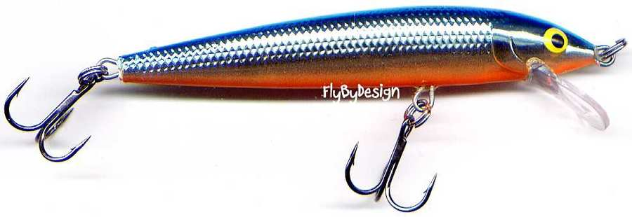 "#HJ08 SB Rapala Silver Blue Husky Jerk Suspending Rattling 3-1//8/"" Fishing Lure"